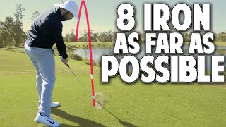 One Club Distance Challenge - How To Hit An 8 Iron As Far As Possible