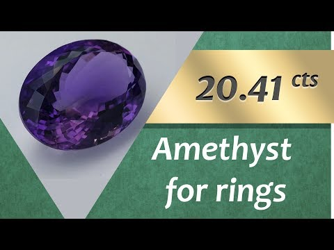 Amethyst Ring: Design Unique Ring with Amethyst 20.41 Carat