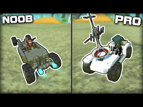 NOOB vs PRO Low Gravity Rover Racing! (Scrap Mechanic Gameplay)
