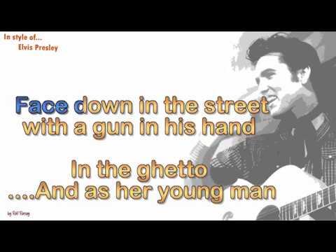Elvis Presley -  In the ghetto -  Instrumental