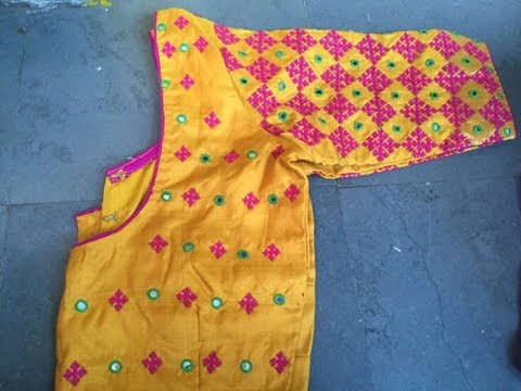 Kutch Work Blouses At Best Price In India,Lace Simple Blouse Back Neck Designs Images