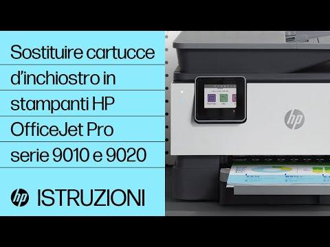 Sostituire cartucce d'inchiostro in stampanti HP OfficeJet Pro serie 9010 e 9020