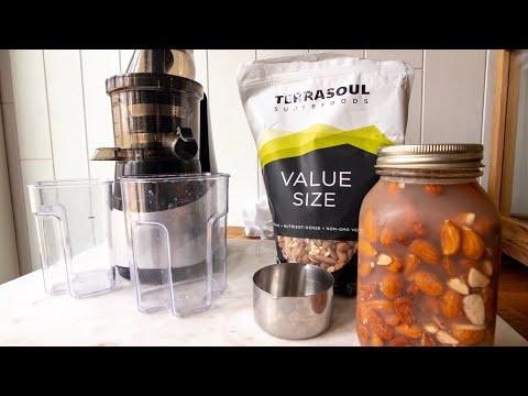 HOW TO MAKE ALMOND MILK - slow masticating juicer