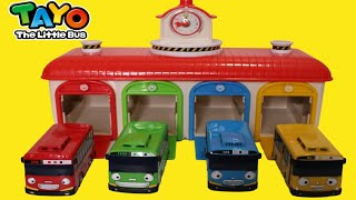 Learn Colors with Tayo Bus Garage Unboxing