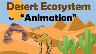 DESERT ECOSYSTEM (Biology Animation)
