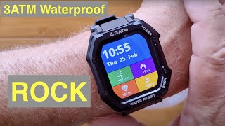 KOSPET ROCK 3ATM Waterproof Swimming Health/Fitness Rugged Smartwatch: Unboxing and 1st Look