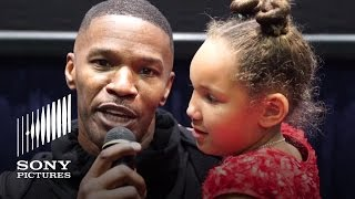 Jamie Foxx Surprises Movie Audience With a Special Message for His Annie Costar