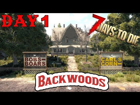 7 Days To Die - Random Horde Nights - Backwoods (Day 1)