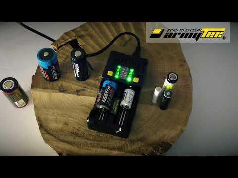 Какие аккумуляторы можно заряжать в Armytek Uni C2?
