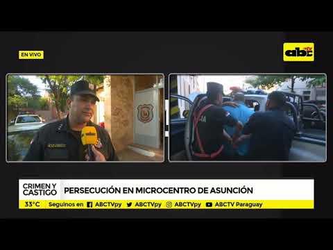 Persecución en microcentro de Asunción