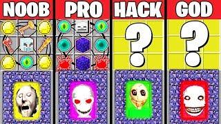 Minecraft Battle: SCARY PORTALS CRAFTING CHALLENGE - NOOB vs PRO vs HACKER vs GOD ~ Animation