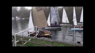 preview picture of video 'River Thames Sailing at Cookham - Winter Series Race'