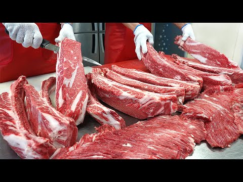 Amazing! Giant grilled Korean beef ribs – Korean street food