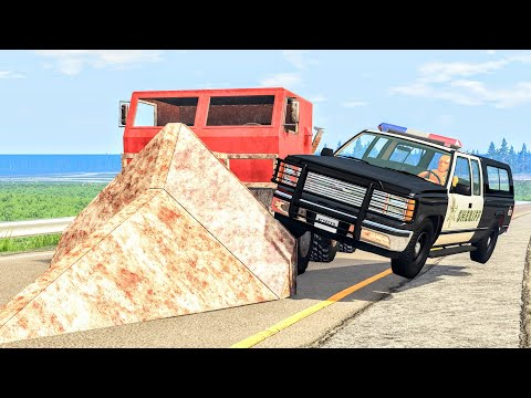 Crazy Police Chases #102 - BeamNG Drive Crashes