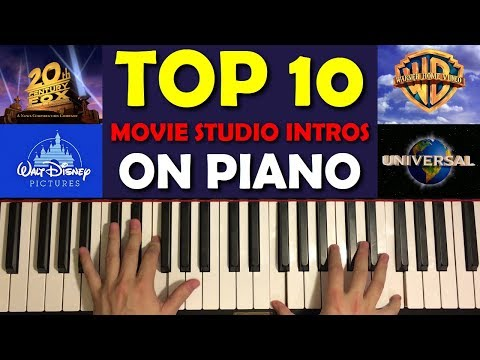 TOP 10 MOVIE STUDIO INTROS ON PIANO