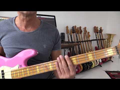 Bass harmonics in E minor, how to play
