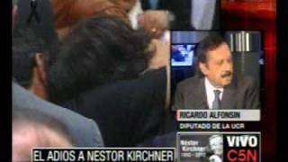 C5N EL ADIOS A NESTOR KIRCHNER  RICARDO ALFONSIN Diputado UCR