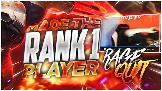 LL STYLISH | WE MADE THE RANK#1 PLAYER RAGEQUIT!!!