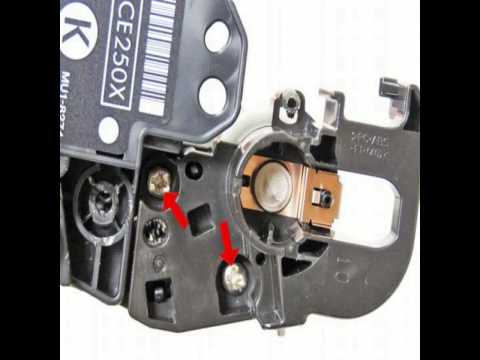 Инструкция по заправке картриджа Hewlett Packard CE250X CE250A CE251A CE252A CE253A