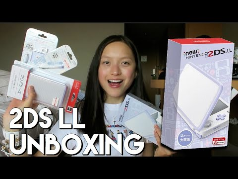 LAVENDER *new* 2DS XL unboxing 2018 + HAUL // Cass Kinling