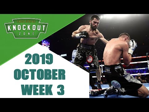 Boxing Knockouts   October 2019 Week 3