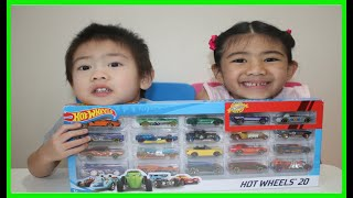 20 Hot Wheels Unboxing