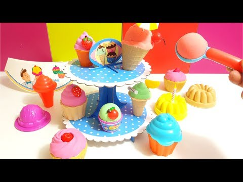 Kinetic Sand Ice Cream & Bakery PlaySet Craze Magic Sand Knet-Sand Squeezable Sand
