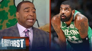 Cris Carter on the Boston Celtics trying to trade Kyrie Irving for Kawhi | NBA | FIRST THINGS FIRST - dooclip.me