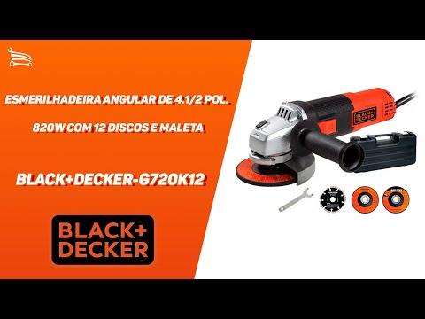 Esmerilhadeira Angular de 4.1/2 Pol. 820W  com 12 Discos e Maleta - Video