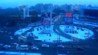 Утренний коллапс на домбытовском кольце в Новокузнецке