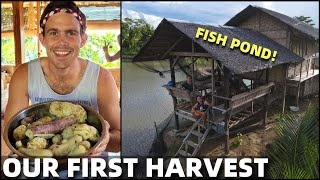 BecomingFilipino – PHILIPPINES BEACH LAND FOOD HARVEST – Visiting The Famous Fish Pond (Cateel, Davao)