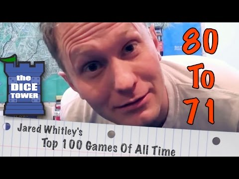 The Dice Tower -- Jared Whitley's Top 100 Games Of All Time -- The Road to Canterbury