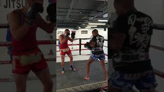 Pad work with 3x Bantamweight world champion Dean James