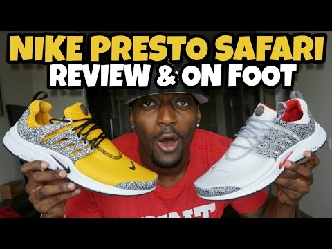 GOLD NIKE PRESTO SAFARI & WHITE REVIEW & ON FOOT