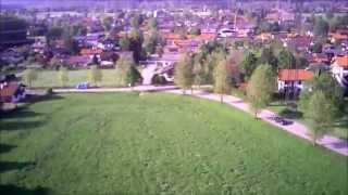 preview picture of video 'Vagen von oben (Husan x4 H107C HD Onboard Cam)'