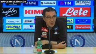 """VIDEO CONF - Sarri: """"Il mio Oscar va al gruppo, Mertens ha sorpreso tutti"""""""