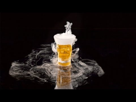 Video Dry Ice Cocktails | With JetChill Dry Ice Drinks Machine #Firebomb
