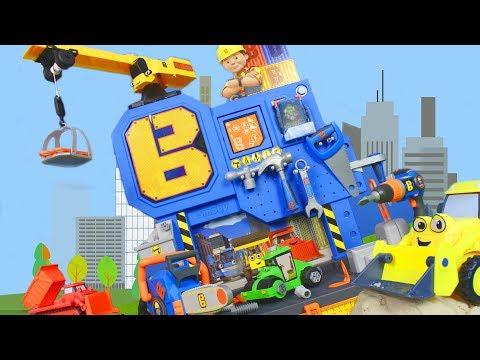 BOB DER BAUMEISTER: Spielzeugautos, Bagger, Kran & Lastwagen Baustelle |  Video für Kinder deutsch