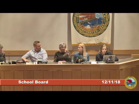 School Board 12.11.2018