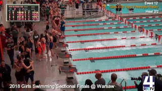 IHSAA Girls Sectional Swimming Finals @ Warsaw