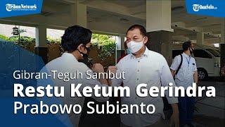 Kompak Berbaju Putih, Gibran-Teguh Sambut Restu Ketum Gerindra Prabowo Subianto: Demi Warga Solo
