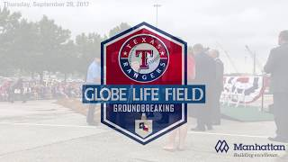 Globe Life Field groundbreaking