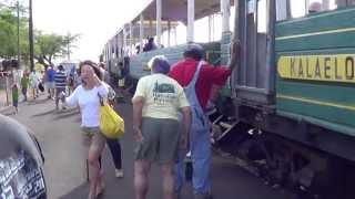 preview picture of video 'Hawaiian Railway Ewa Beach Train Parked 08/11/2013 HD'