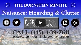 Nuisance: Clutter + Hoarding Issues on The Bornstein Minute