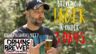 Brewing a quick lager in under 3 days - Don´t just take my word for it!  Fermentasaurus part 7