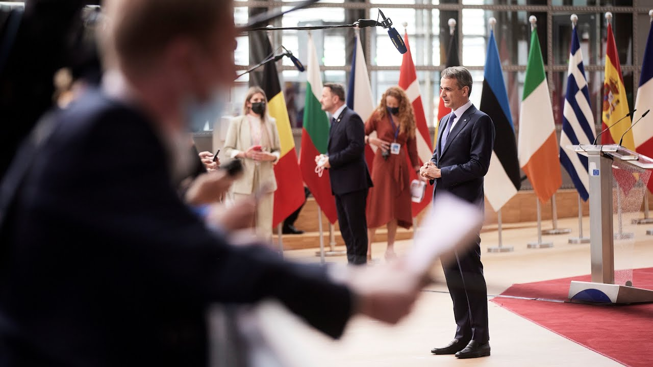 Δήλωση Κυριάκου Μητσοτάκη κατά την άφιξή του για τις εργασίες της Συνόδου του Ευρωπαϊκού Συμβουλίου