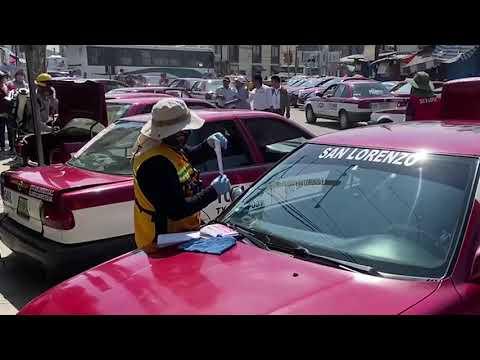 Operativo de Sanitización Taxis Colectivos