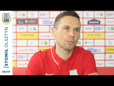 Piotr Klepczarek przed meczem Resovia - Stomil Olsztyn