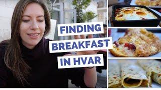 Breakfast in Hvar, Croatia