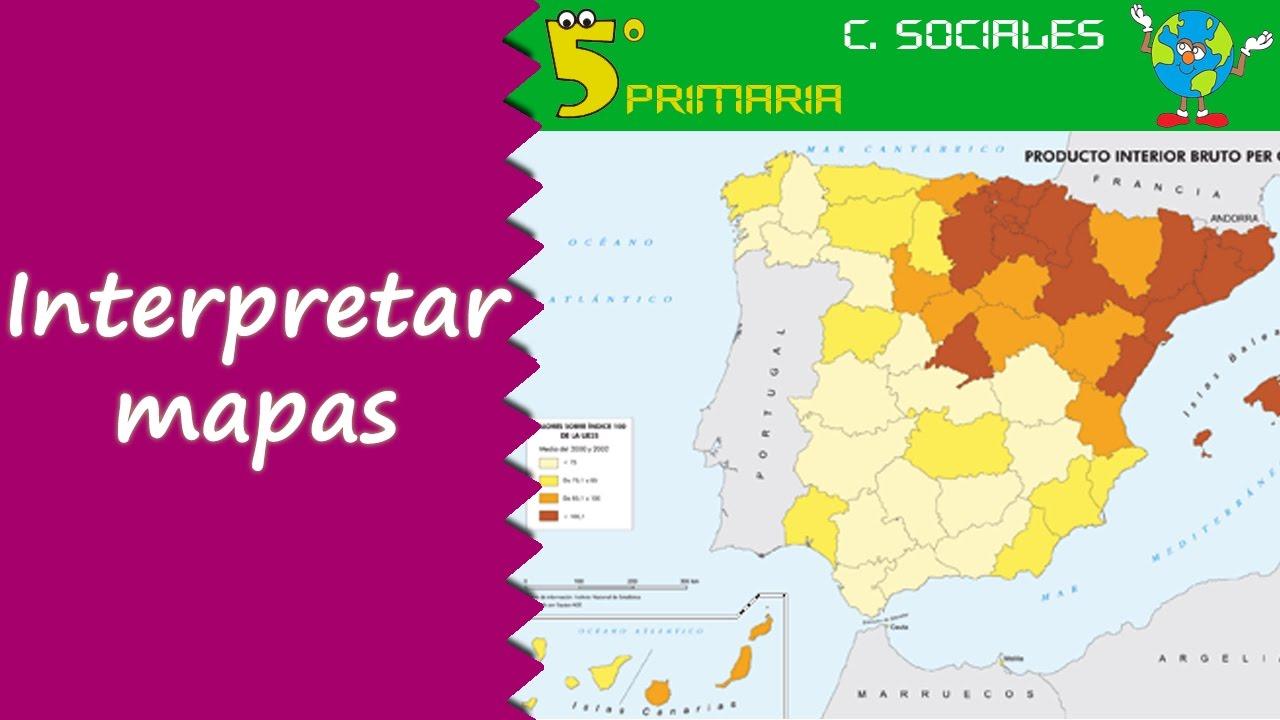 Interpretar mapas. Sociales, 5º Primaria. Tema 2